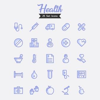 Icônes de santé style moderne
