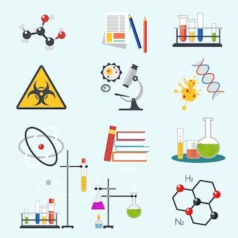 Icônes de la science chimique