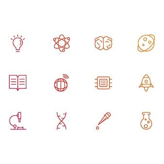 Icônes de la science et de l'éducation