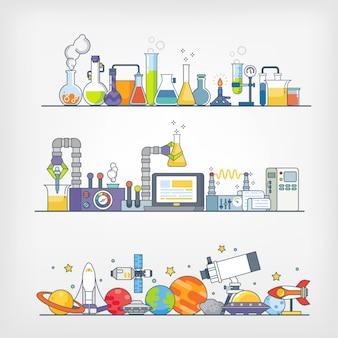 Icônes de la science / expérience