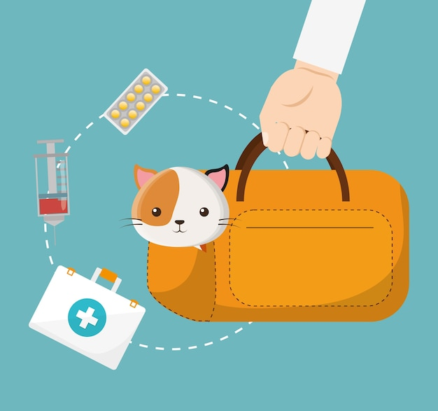 Icônes de service de centre de soins pour animaux de compagnie