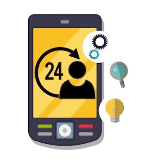 Icônes de service de support client