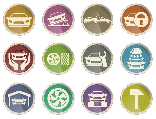 Icônes de service de voiture