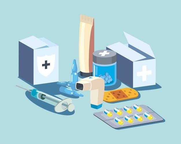 Icônes de soins médicaux et de médecine