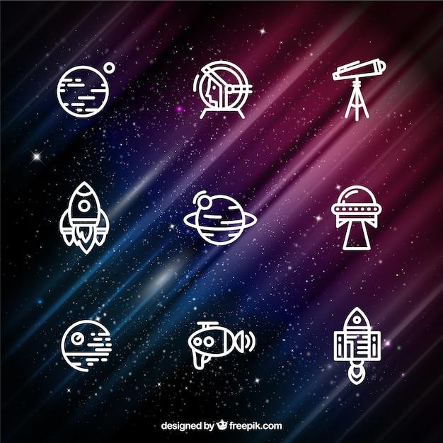 Icônes spatiales