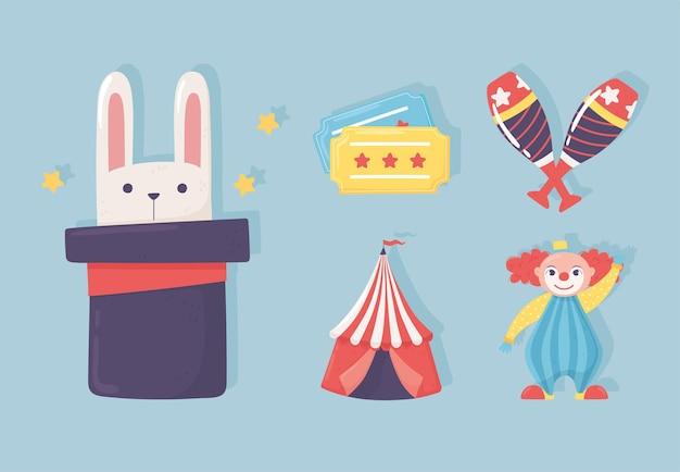 Icônes de spectacle de cirque