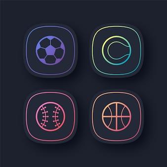 Icônes de sport colorées