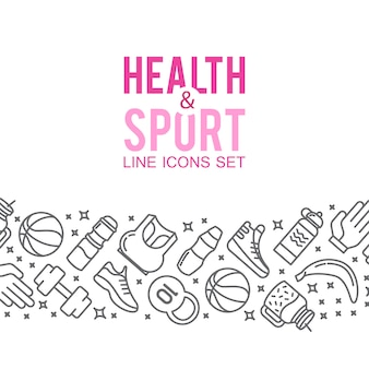 Icônes sportives. concept sportif, fond icônes jeux de sport