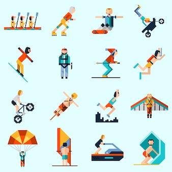 Icônes de sports extrêmes