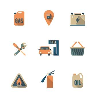 Icônes de station de gaz