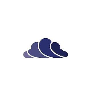 Icônes de symboles et de logo de données de serveurs cloud