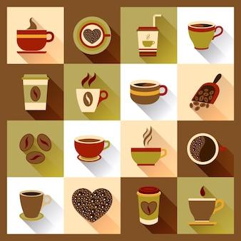 Icônes de tasse de café