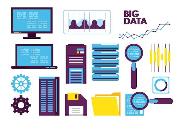 Icônes de technologie de base de données