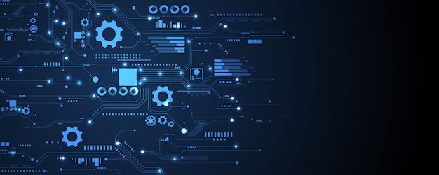 Icônes de technologie d'entreprise définies fond d'affaires et de technologie