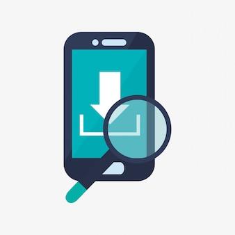 Icônes de téléphone portable et de télécommunication