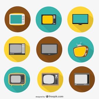 Icônes de télévision rondes