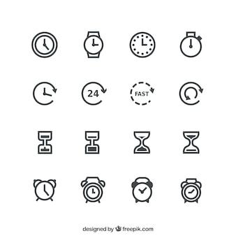 Icônes temps