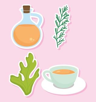 Icônes de thé à la camomille