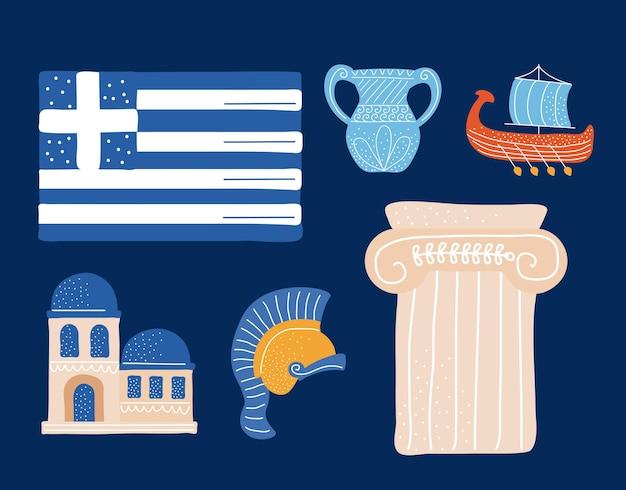 Icônes traditionnelles de la grèce