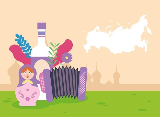 Icônes traditionnelles russes dans le camp