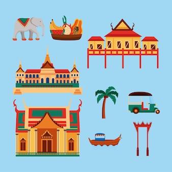 Icônes traditionnelles de la thaïlande