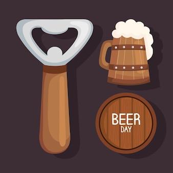 Icônes de trois bières