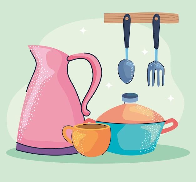 Icônes d & # 39; ustensiles de cuisine