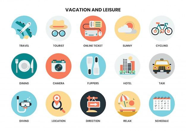 Icônes de vacances définies pour les entreprises