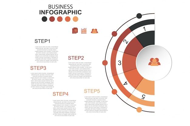 Icônes de vecteur de conception infographie chronologie et marketing