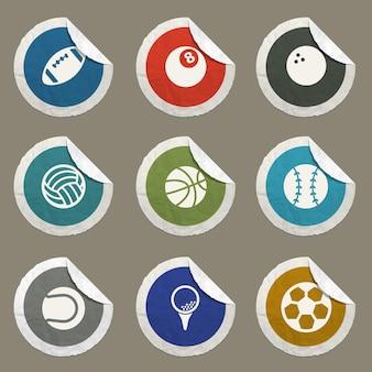 Icônes vectorielles de balles de sport pour les sites web et l'interface utilisateur