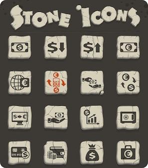 Icônes vectorielles de change pour la conception d'interfaces web et utilisateur