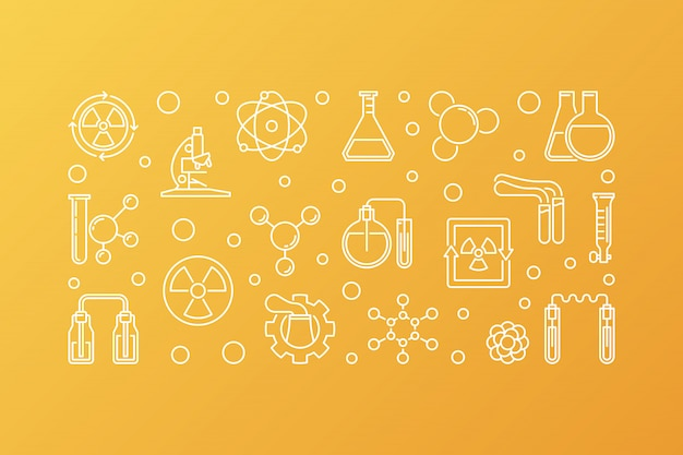 Icônes vectorielles de chimie nucléaire