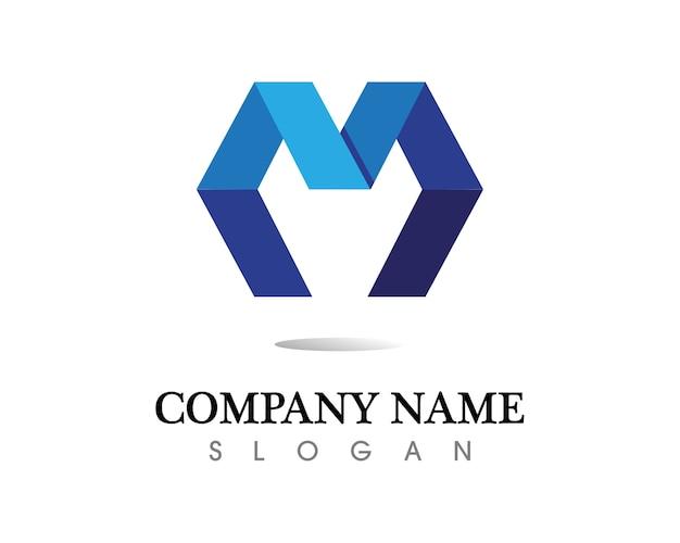 Icônes vectorielles lettre m tels logos
