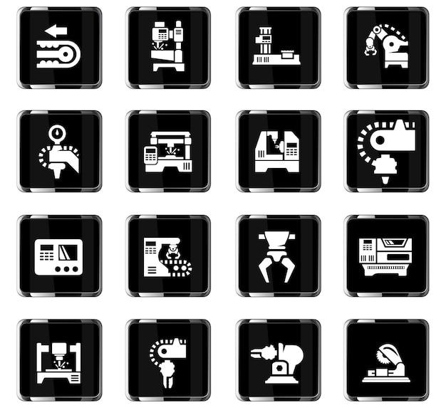 Icônes vectorielles de machines-outils pour la conception d'interface utilisateur