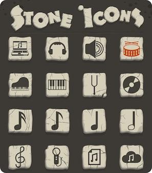 Icônes vectorielles de musique pour la conception d'interfaces web et utilisateur