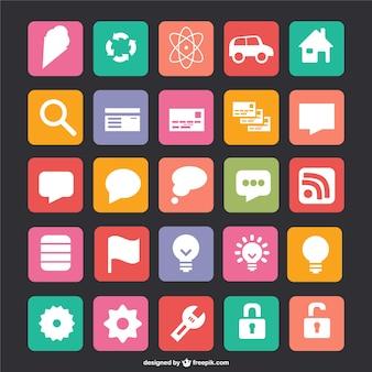 Icônes vectorielles plat gratuits