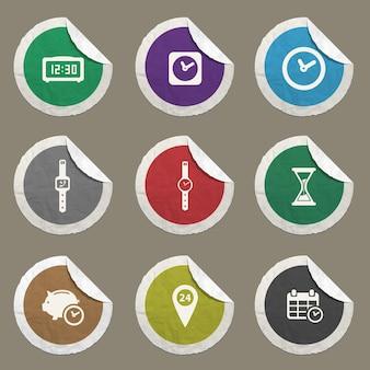 Icônes vectorielles de temps pour les sites web et l'interface utilisateur
