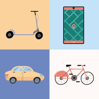 Icônes de véhicules de location
