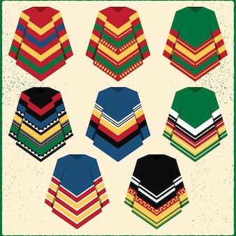 Icônes de vêtements poncho