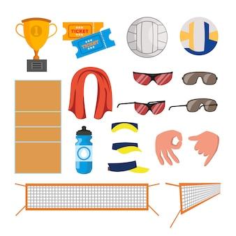 Icônes de volleyball de plage