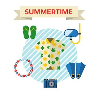 Icônes de voyage et chemise de voyage de tourisme.
