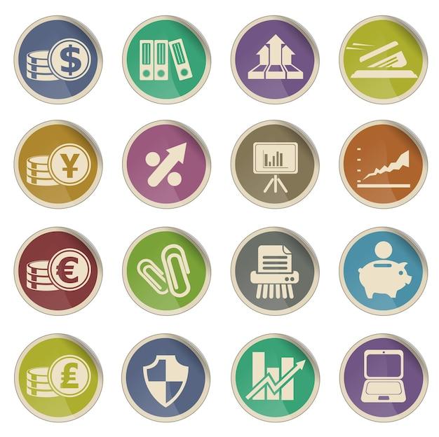 Icônes web des affaires et des finances. simplement symbole pour les icônes web