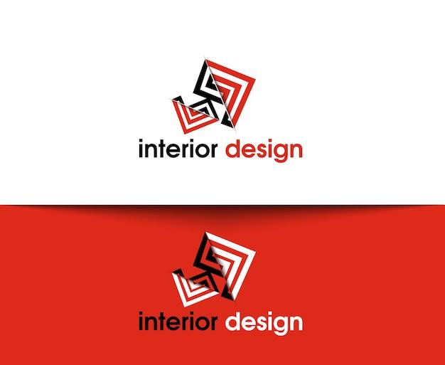 Icônes web de design d'intérieur et logo vectoriel