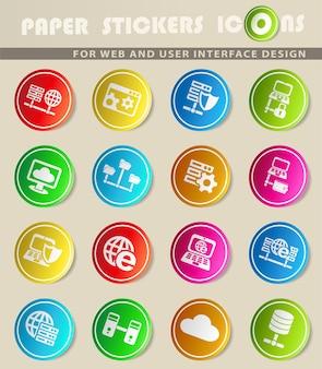 Icônes web du serveur pour la conception de l'interface utilisateur