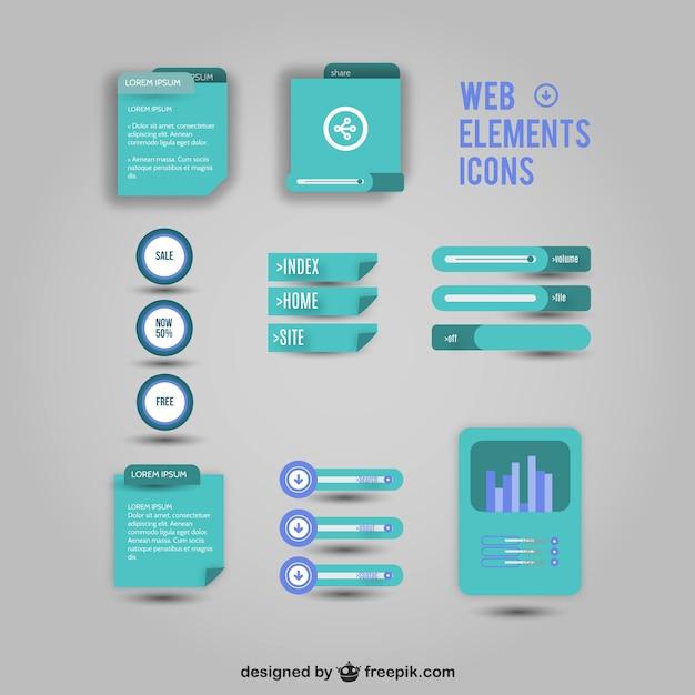 Icônes web éléments vectoriels