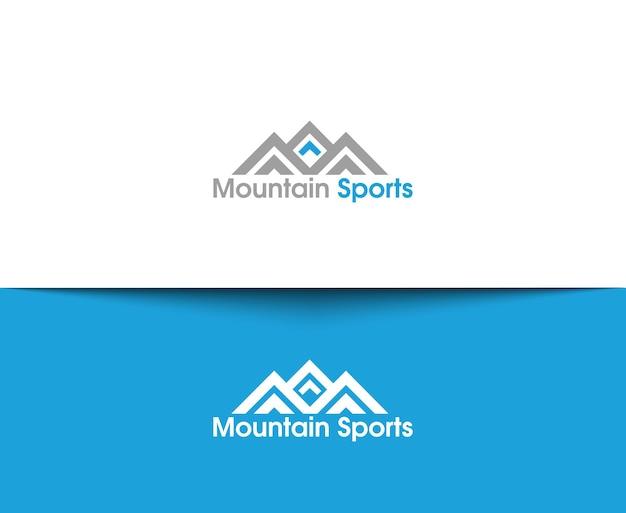 Icônes web de montagne et logo vectoriel