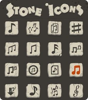 Icônes web de notes de musique pour la conception d'interface utilisateur
