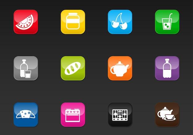 Icônes web professionnelles de cuisine pour votre conception