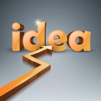 Idée 3d affaires infographie. icône de flèches