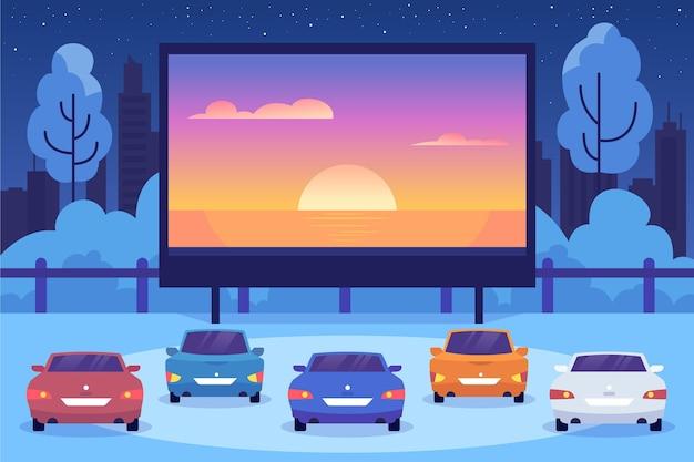 Idée de cinéma drive-in